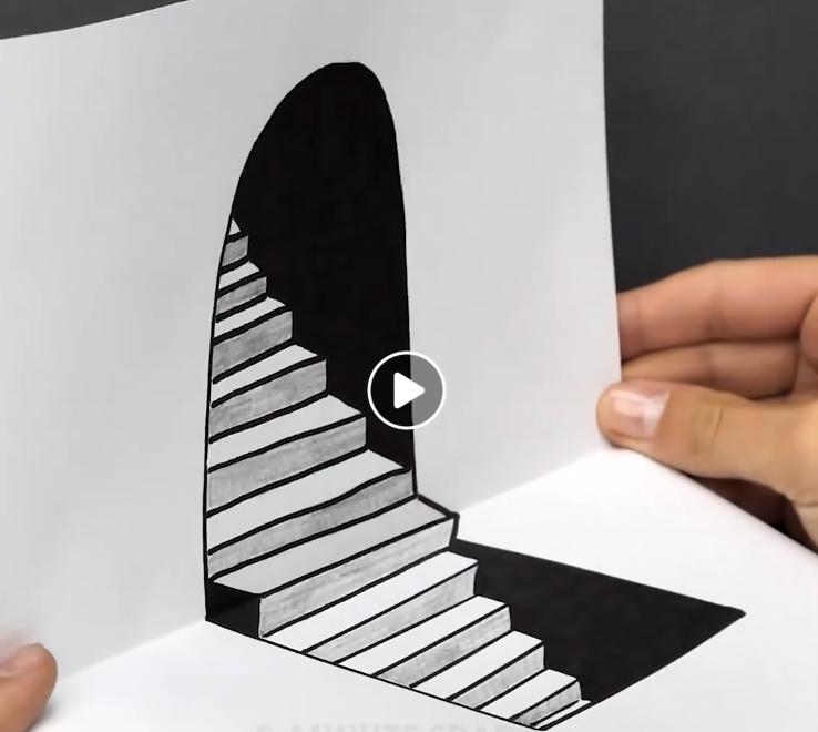 illusion d'optique escalier