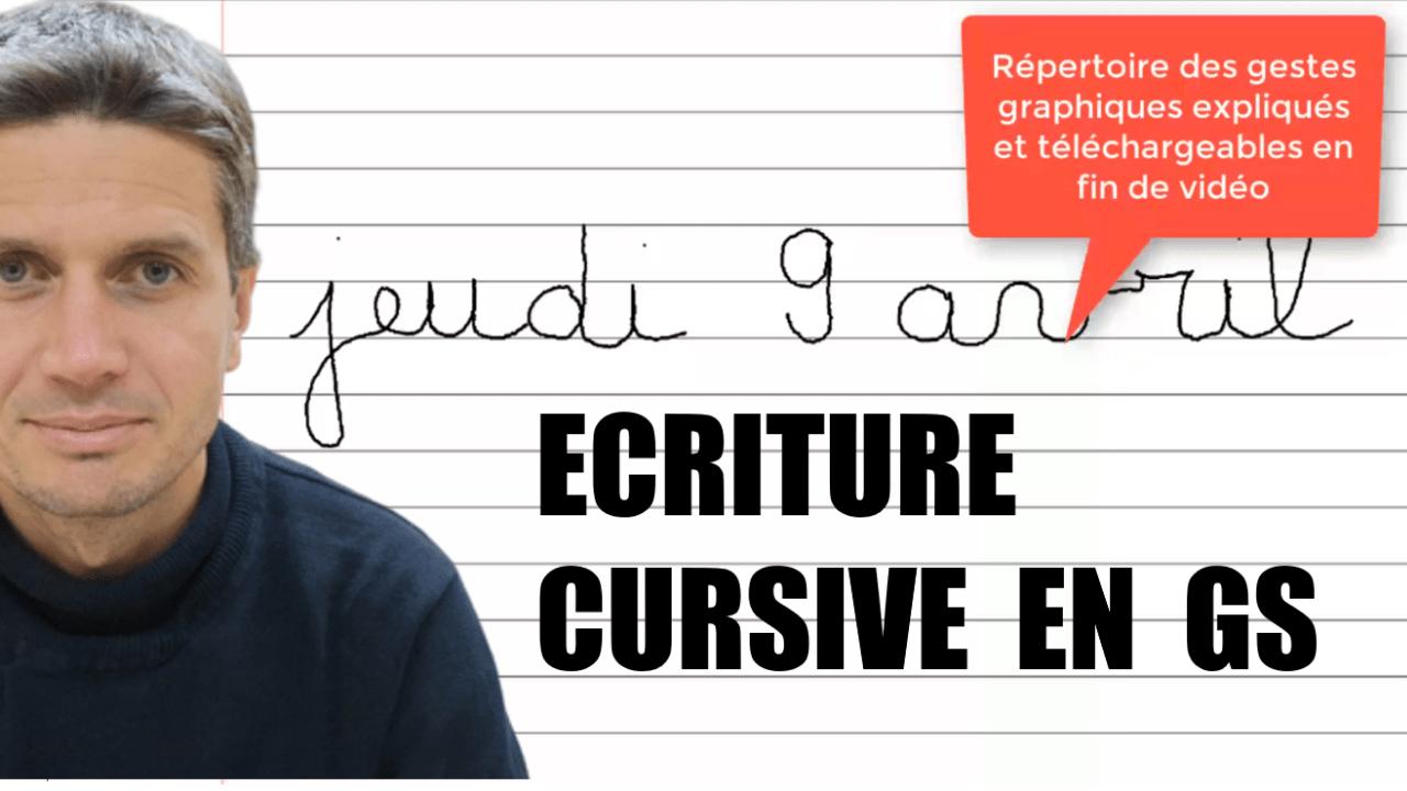 Apprendre l écriture cursive en gs